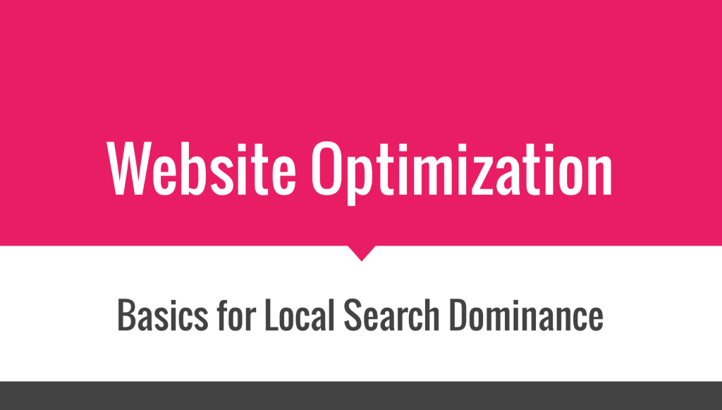 Local SEO Website Optimizations